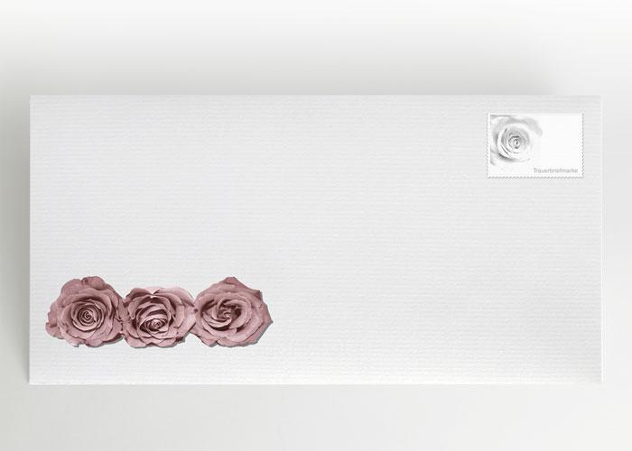 Nahaufnahme von Rosenblüten - Briefumschlag Motiv B-01