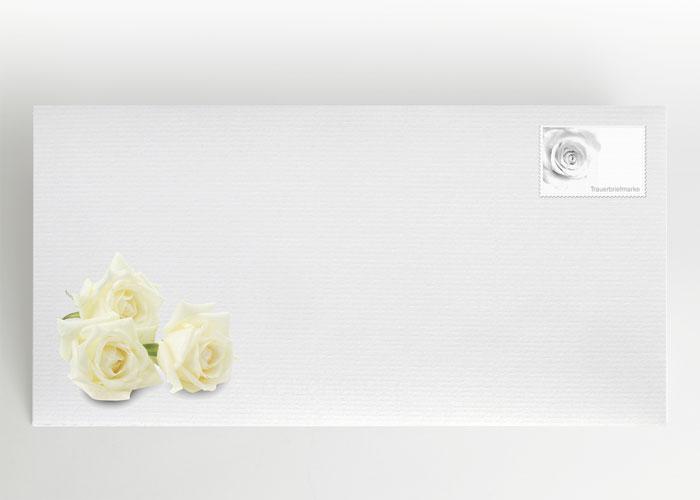 Weiße Rose - Briefumschlag Motiv B-04