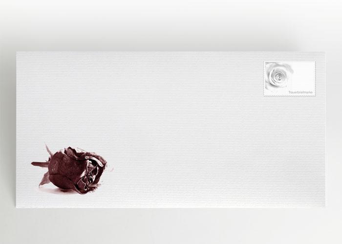 Getrocknete Rote Rose - Briefumschlag Motiv B-06