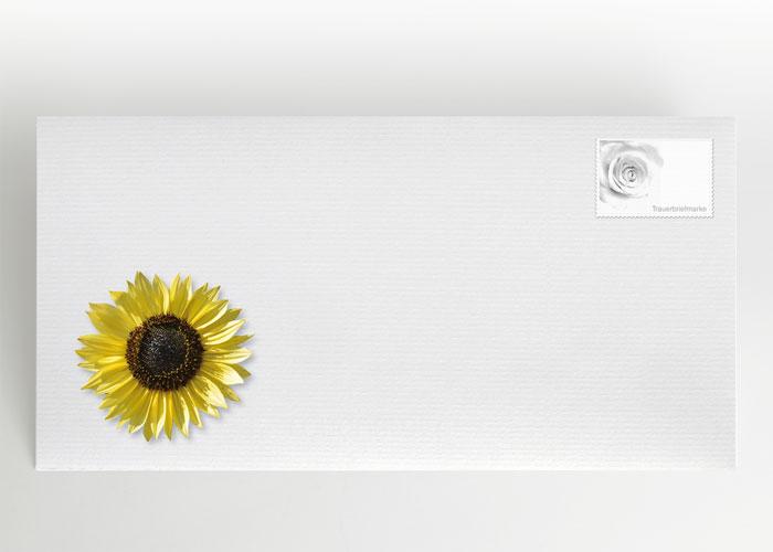 Sonnenblume - Briefumschlag Motiv B-09