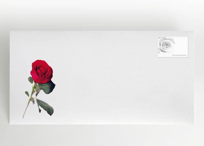 Rote Rose - Briefumschlag Motiv B-22