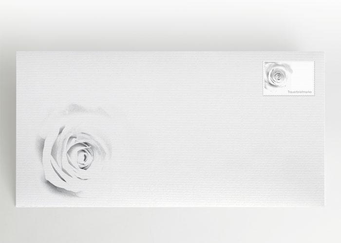 Verblassende Rose - Traueranzeige Motiv B-28