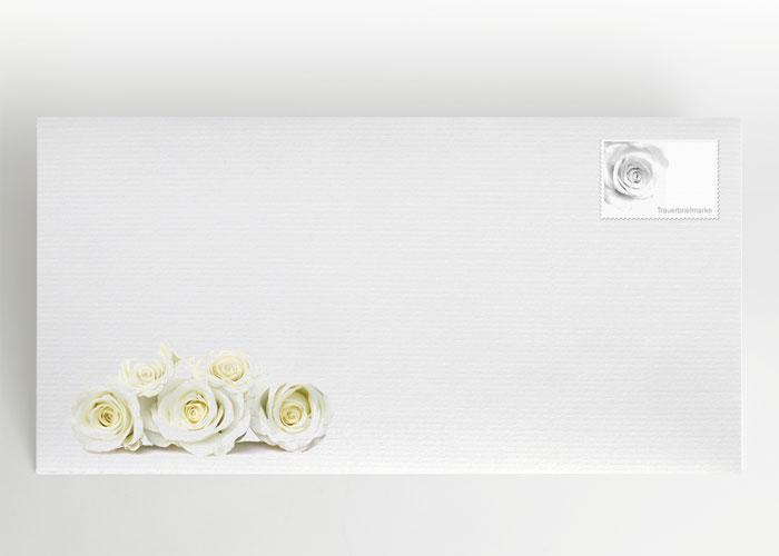Weiße Rosen - Briefumschlag Motiv B-31