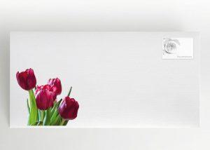 Ein Strauß Tulpen - Briefumschlag Motiv B-35