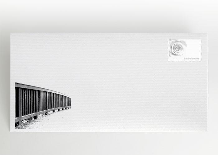 Brücke in einen hellen Lichtschein - Briefumschlag Motiv F-14