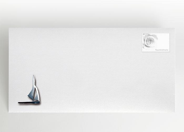 Segelboot im Meer - Briefumschlag Motiv F-23