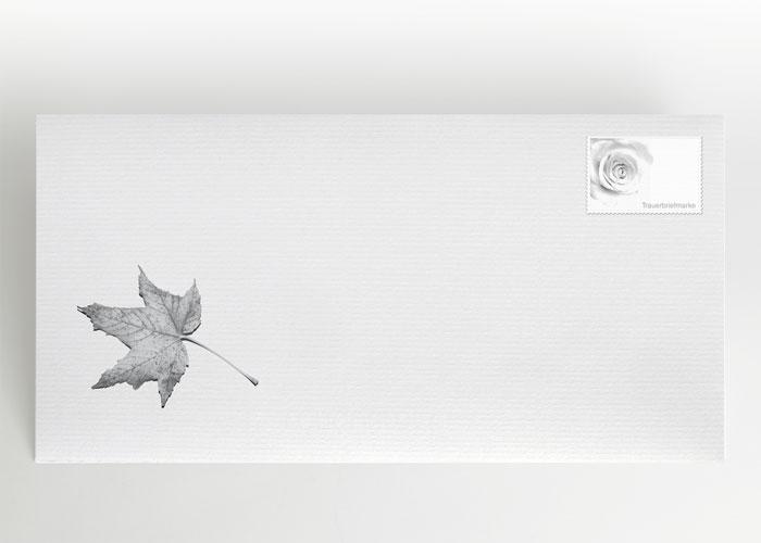 Herbstblatt - Briefumschlag Motiv F-31