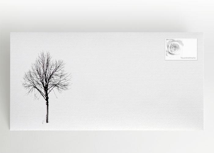 Baum im Winter - Briefumschlag Motiv F-34