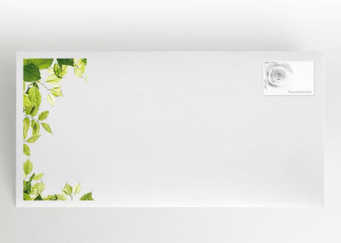 Zweige mit grünen Blättern - Briefumschlag Motiv F-42