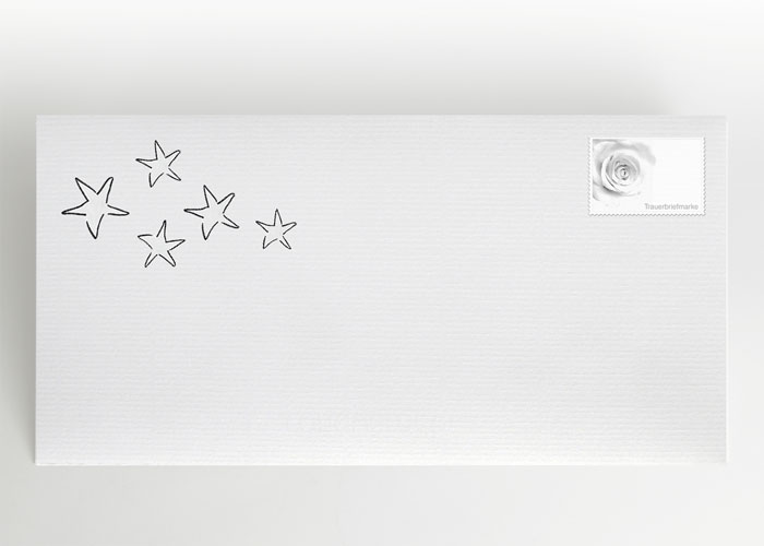5 Sterne - Briefumschlag Motiv S-01