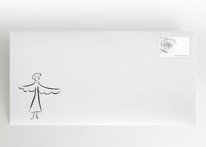 Engel mit ausgebreiteten Flügeln - Briefumschlag Motiv S-04