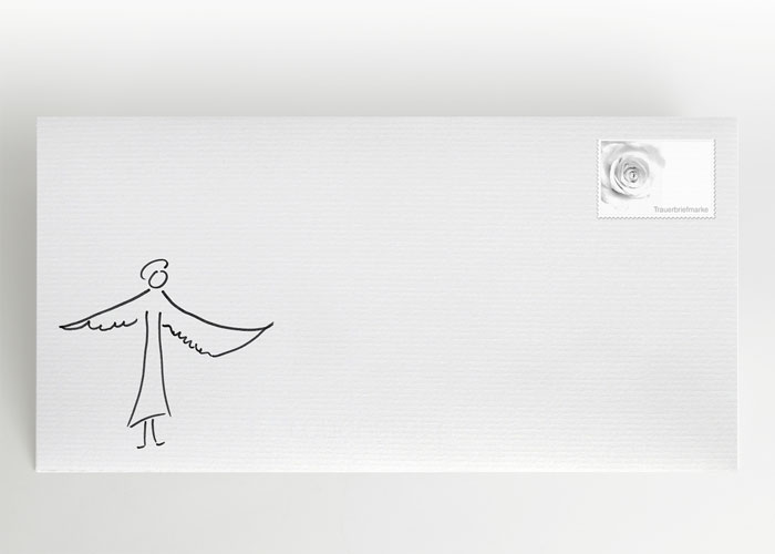 Engel mit ausgebreiteten Flügeln - Briefumschlag Motiv S-05