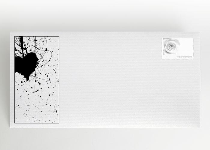 Herz mit Strichen und Punkten - Briefumschlag Motiv S-06