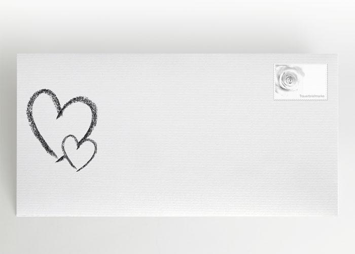 Großes und kleines Herz - Briefumschlag Motiv S-09