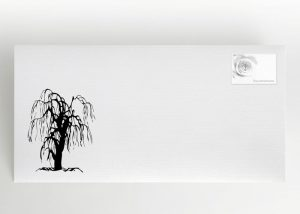 Symbolisierte Trauerweide - Traueranzeige Motiv S-13