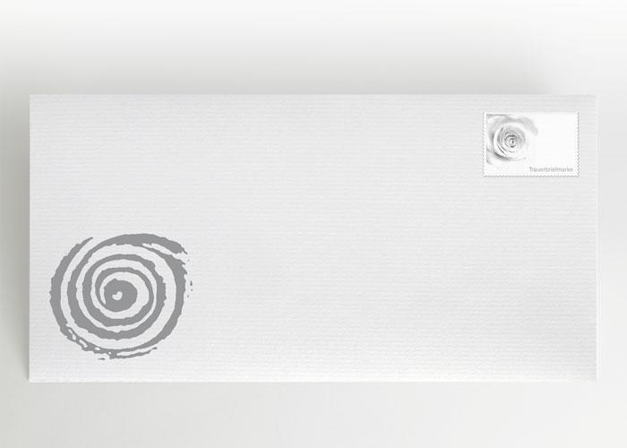 Gezeichnete Spirale - Briefumschlag Motiv S-16