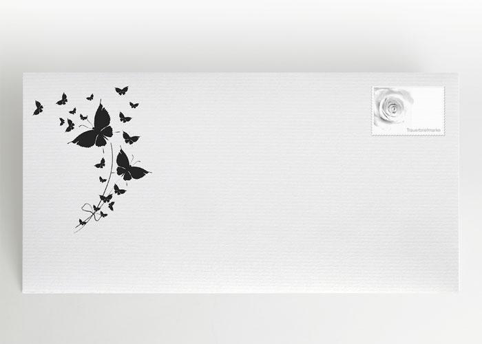 Aufsteigende Schmetterlinge - Briefumschlag Motiv S-42