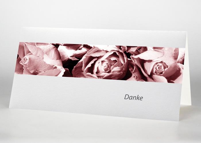 Nahaufnahme von Rosenblüten - Danksagungskarte Motiv B-01