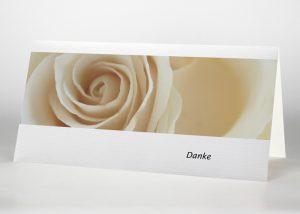 Gelbe Rose - Danksagungskarte Motiv B-02