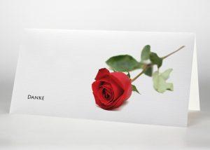 Rote Rose - Danksagungskarte Motiv B-03