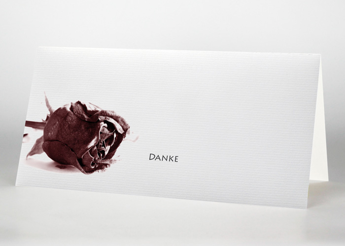 Getrocknete Rote Rose - Danksagungskarte Motiv B-06
