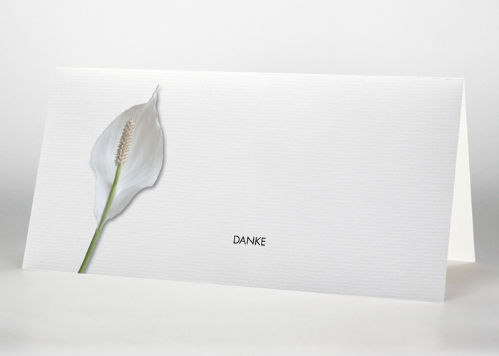 Calla - Danksagungskarte Motiv B-07