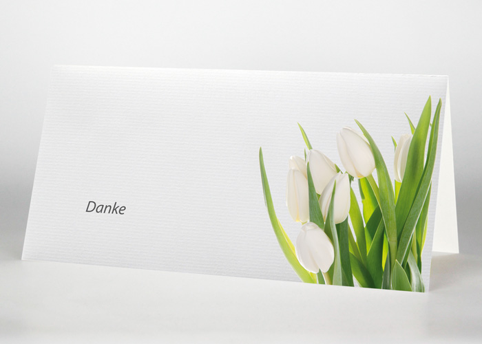 Tulpen - Danksagungskarte Motiv B-11