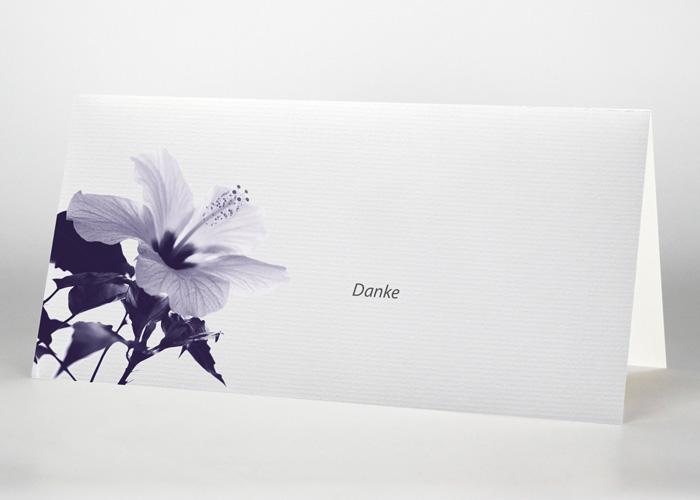 Hibiskus - Danksagungskarte Motiv B-14