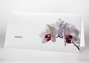 Rosa Orchidee - Danksagungskarte Motiv B-16