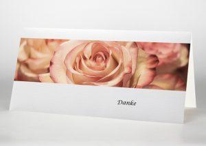 Rosa Rosen - Danksagungskarte Motiv B-20