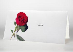 Rote Rose - Danksagungskarte Motiv B-22
