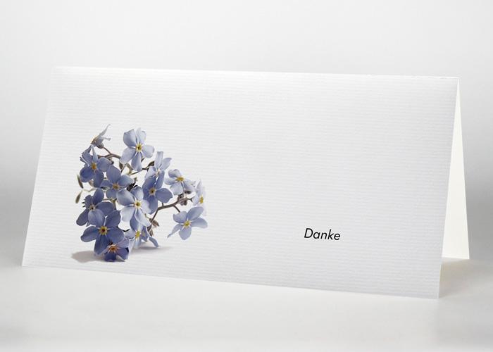 Vergißmeinnicht - Danksagungskarte Motiv B-25