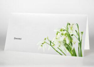 Schneeglöckchen - Danksagungskarte Motiv B-26