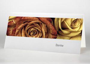 Rote und gelbe Rose - Danksagungskarte Motiv B-27