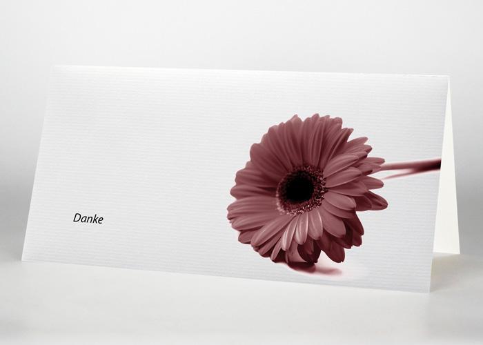 Rote Gerbera - Danksagungskarte Motiv B-30