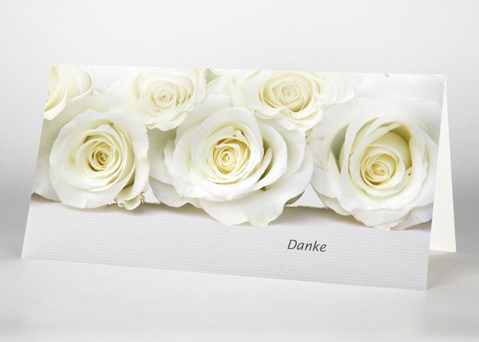 Weiße Rosen - Danksagungskarte Motiv B-31