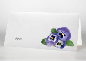 Stiefmütterchen - Danksagungskarte Motiv B-33