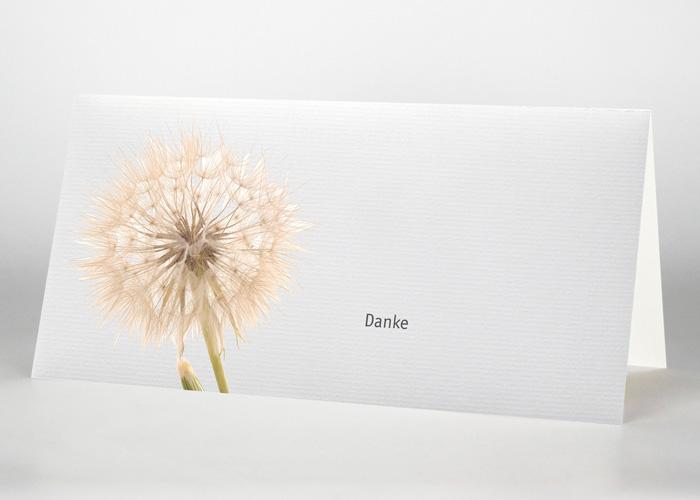 Pusteblume - Danksagungskarte Motiv B-37