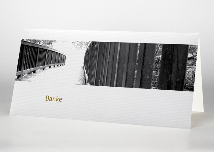 Brücke in einen hellen Lichtschein - Danksagungskarte Motiv F-14
