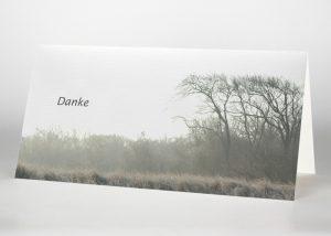 Landschaft im Nebel - Danksagungskarte Motiv F-15