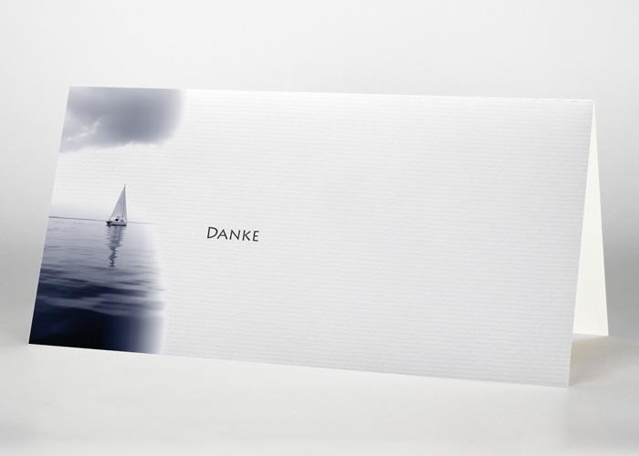 Segelboot am Horizont - Danksagungskarte Motiv F-22