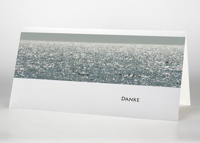 Glitzerndes Meer - Danksagungskarte Motiv F-25
