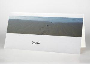 Fußspuren im Sand - Danksagungskarte Motiv F-28