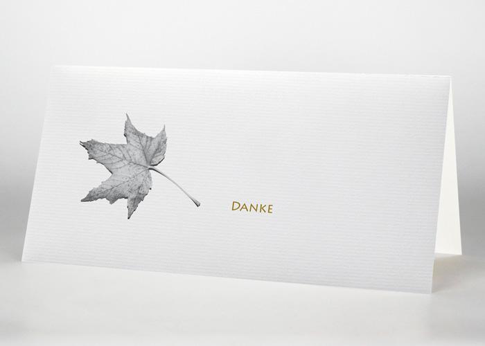 Herbstblatt - Danksagungskarte Motiv F-31