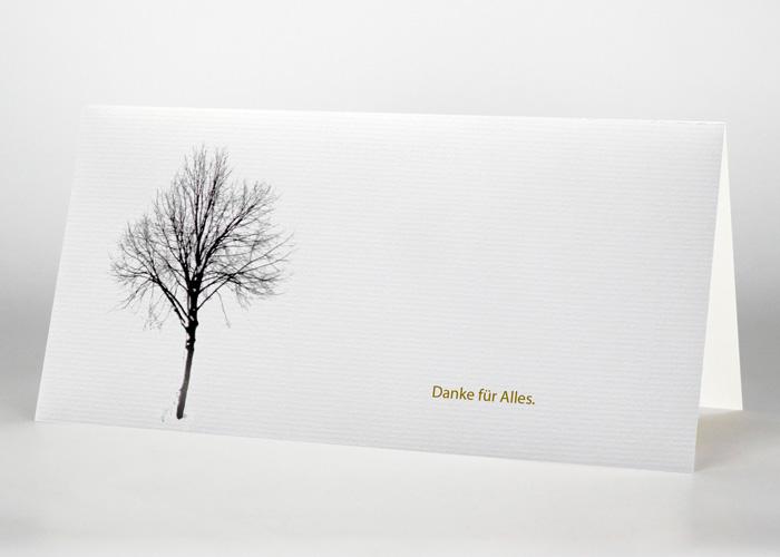 Baum im Winter - Danksagungskarte Motiv F-34