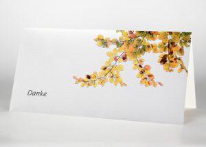 Herbstblätter - Danksagungskarte Motiv F-37
