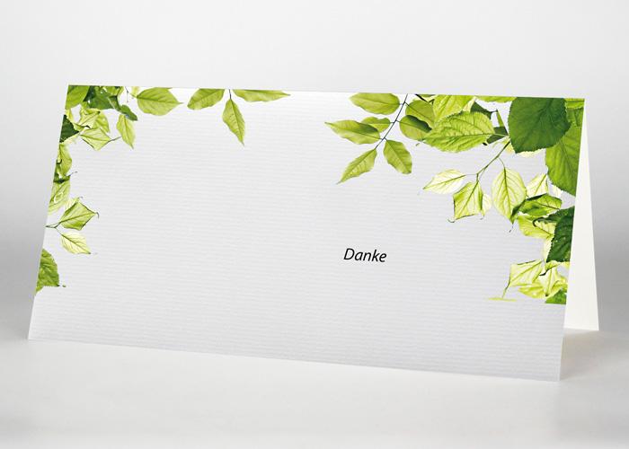 Zweige mit grünen Blättern - Danksagungskarte Motiv F-42