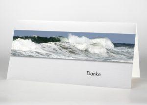 Brechende Welle auf dem Meer - Danksagungskarte Motiv F-50