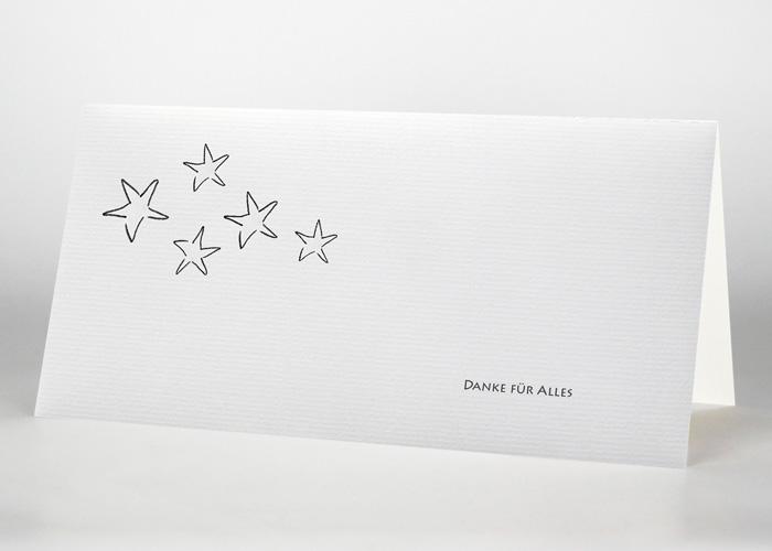 5 Sterne - Danksagungskarte Motiv S-01