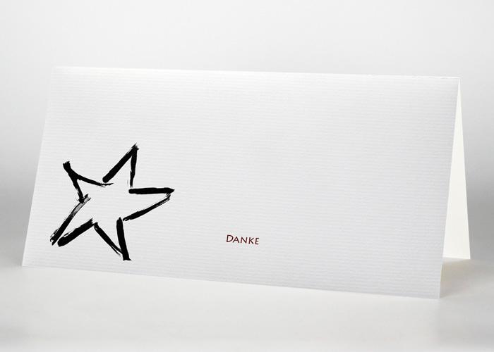 Einzelner Stern - Danksagungskarte Motiv S-02